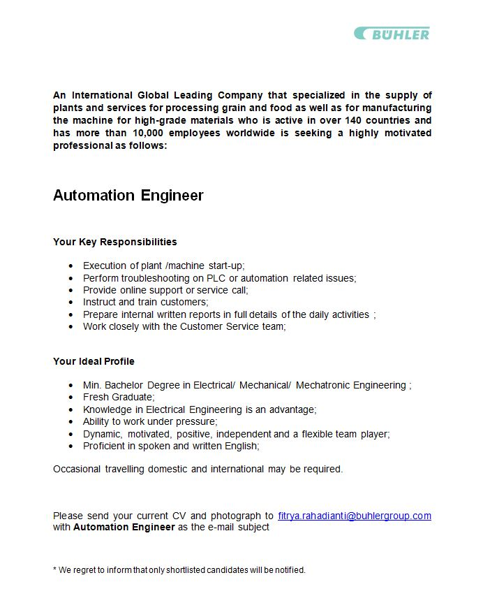 Resume For Automation Engineer Sample Resume For Experienced
